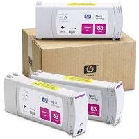 Hewlett Packard HP C5074A ( HP 83 ) UV Ink Magenta InkJet Cartridge Multi-Pack ( 3 Pack of C4942A )