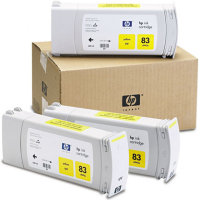 Hewlett Packard HP C5075A ( HP 83 ) UV Ink Yellow InkJet Cartridge Multi-Pack ( 3 Pack of C4943A )