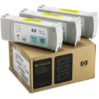 Hewlett Packard HP C5076A ( HP 83 ) UV Ink Light Cyan InkJet Cartridge Multi-Pack ( 3 Pack of C4944A )