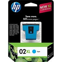 Hewlett Packard HP C8730WN / HP 02XL Cyan InkJet Cartridge