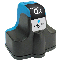 Hewlett Packard HP C8771WN / HP 02 Cyan Replacement InkJet Cartridge