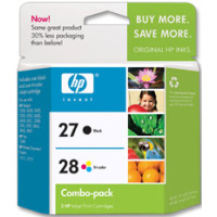 Hewlett Packard HP C9323FN ( HP 27/28 ) InkJet Cartridge Combo Pack