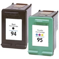 Hewlett Packard HP C9354FN ( HP 94/95 ) Remanufactured InkJet Cartridge Combo Pack