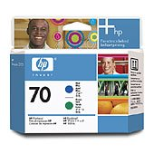 Hewlett Packard HP C9408A ( HP 70 Blue/Green Printhead ) Printhead InkJet Cartridge