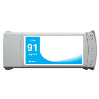Hewlett Packard HP C9467A ( HP 91 Cyan ) Remanufactured InkJet Cartridge