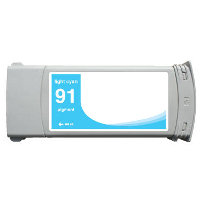 Hewlett Packard HP C9470A ( HP 91 Light Cyan ) Remanufactured InkJet Cartridge