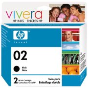 Hewlett Packard HP C9500BN ( HP 02 Twinpack ) InkJet Cartridges