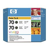 Hewlett Packard HP CB339A ( HP 70 ) InkJet Cartridge Twin Pack