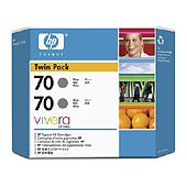 Hewlett Packard HP CB341A ( HP 70 ) InkJet Cartridge Twin Pack