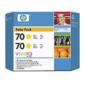 Hewlett Packard HP CB345A ( HP 70 ) InkJet Cartridge Twin Pack