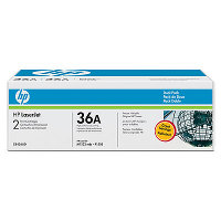 Hewlett Packard HP CB436AD ( HP 36A ) Laser Toner Cartridge Dual Pack