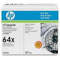 Hewlett Packard HP CC364XD ( HP 64X ) Laser Toner Cartridge Dual Pack