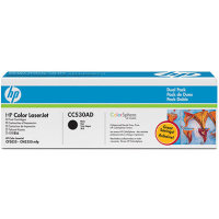 Hewlett Packard HP CC530AD Laser Toner Cartridge Dual Pack