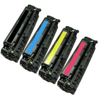 Hewlett Packard HP CC530A / CC531A / CC532A / CC533A Compatible Laser Toner Cartridge MultiPack