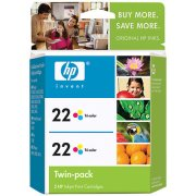 Hewlett Packard HP CC580FN ( HP 22 Twinpack ) InkJet Cartridge Twin Pack