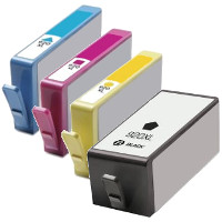 Hewlett Packard HP CD972AN / CD973AN / CD974AN / CD975AN ( HP 920XL ) Remanufactured InkJet Cartridge Set