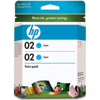 Hewlett Packard HP CD996FN ( HP 02 cyan ) InkJet Cartridge Twin Pack