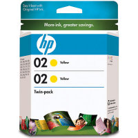 Hewlett Packard HP CD998FN ( HP 02 yellow ) InkJet Cartridge Twin Pack