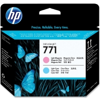 Hewlett Packard HP CE019A ( HP 771 Light Magenta/Light Cyan ) InkJet Printhead