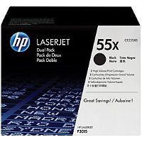 Hewlett Packard HP CE55XD ( HP 55X ) Laser Toner Cartridge Dual Pack