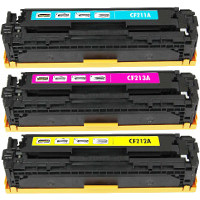 Hewlett Packard HP CF211A / CF212A / CF213A ( HP 131A ) Compatible Laser Toner Cartridge Set