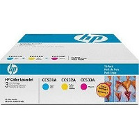 Hewlett Packard HP CF340A Laser Toner Cartridge Tri-Pack