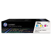 Hewlett Packard HP CF341A ( HP 126A ) Laser Toner Cartridge Tri-Pack