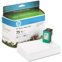 Hewlett Packard HP CG501AN ( HP 75 Photo Value Pack ) InkJet Cartridge Value Pack