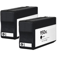 Hewlett Packard HP CN045AN ( HP 950XL black ) Remanufactured InkJet Cartridges (2/Pack)