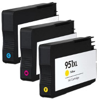 Remanufactured HP 951XL Cyan / 951XL Magenta / 951XL Yellow Inkjet Cartridge MultiPack