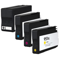 Remanufactured HP 950XL Black / 951XL Cyan / 951XL Magenta / 951XL Yellow Inkjet Cartridge MultiPack