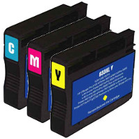 Hewlett Packard HP CN054AN / CN055AN / CN056AN ( HP 933XL ) Remanufactured InkJet Cartridge Set