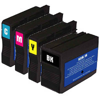 Hewlett Packard HP CN053AN / CN054AN / CN055AN / CN056AN ( HP 932XL / 933XL ) Remanufactured InkJet Cartridge Set