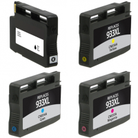Remanufactured HP 933XL Cyan / 933XL Magenta / 933XL Yellow / 932 Black Inkjet Cartridge MultiPack