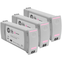 Hewlett Packard HP CR254A ( HP 771 Light Magenta ) InkJet Cartridges (3/Pack)