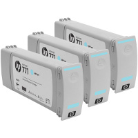 Hewlett Packard HP CR255A ( HP 771 Light Cyan ) InkJet Cartridges (3/Pack)