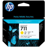Hewlett Packard HP CZ136A ( HP 711 yellow ) InkJet Cartridges (3/Pack)