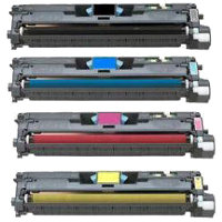 Compatible HP C9700A / C9701A / C9702A / C9703A Laser Toner Cartridge MultiPack