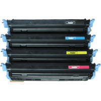 Compatible HP Q6000A / Q6001A / Q6002A / Q6003A Laser Toner Cartridge MultiPack