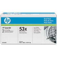 Hewlett Packard HP Q7553XD ( HP 53X ) Laser Toner Cartridge Dual Pack