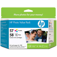 Hewlett Packard HP Q7952AN ( HP 57/58 Photo Value Pack ) InkJet Cartridge Value Pack