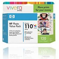 Hewlett Packard HP Q8700AN ( HP 110 Photo Value Pack ) InkJet Cartridge Value Pack