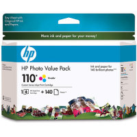 Hewlett Packard HP Q8700BN ( HP 110 Photo Value Pack ) InkJet Cartridge Value Pack