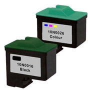Lexmark 10N0016 ( #16 ) / 10N0026 ( #26 ) Remanufactured InkJet Cartridges