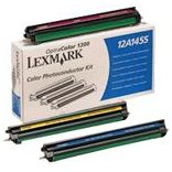 Lexmark 12A1455 Laser Toner Photoconductor Set (Cyan, Magenta, Yellow) for the Lexmark Optra Color 1200 Laser Printer