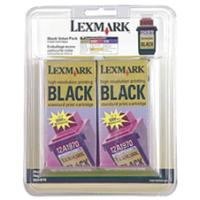 Lexmark 15M1330 Black InkJet Cartridges ( 2 Pack of 12A1970 )
