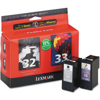 Lexmark 18C0532 ( Lexmark Twin-Pack #32, #33 ) InkJet Cartridge Combo Pack