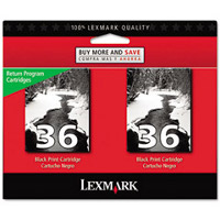 Lexmark 18C2236 ( Lexmark Twin-Pack #36 ) InkJet Cartridges