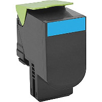 Compatible Lexmark 80C1HC0 Cyan Laser Toner Cartridge (Made in North America; TAA Compliant)