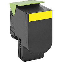 Compatible Lexmark 80C1HY0 Yellow Laser Toner Cartridge (Made in North America; TAA Compliant)